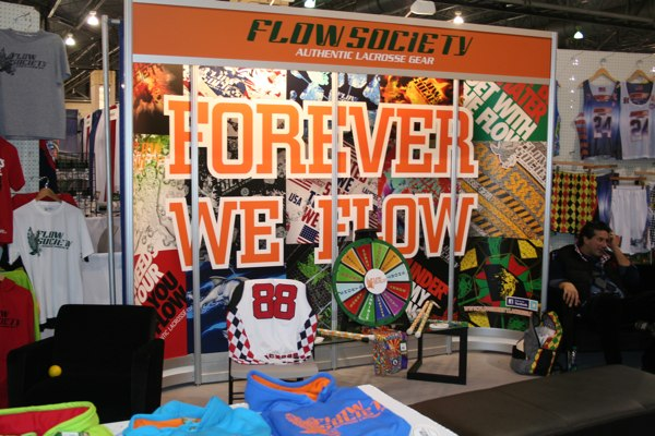 "Flow Society's ""flowing"" booth."