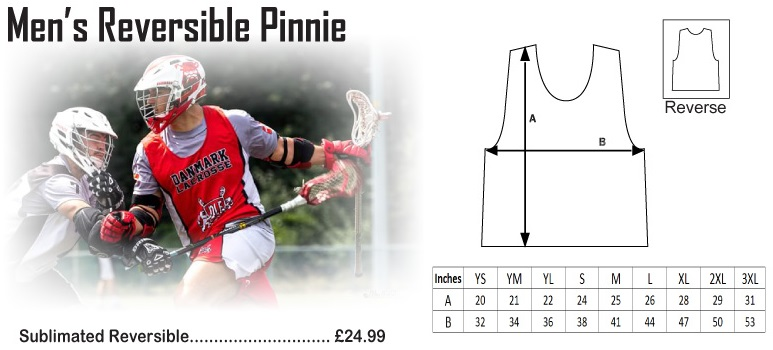 ArchLevel Lacrosse Mens Pinnie Size Chart