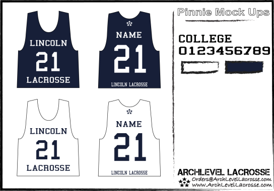 Lincoln Uni Lacrosse shooting shirt Mock Up